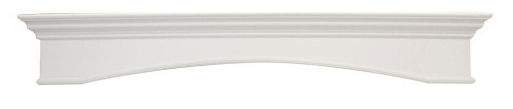 Oxford Mantel Shelf, White CARB Compliant MDF - 64 Inch