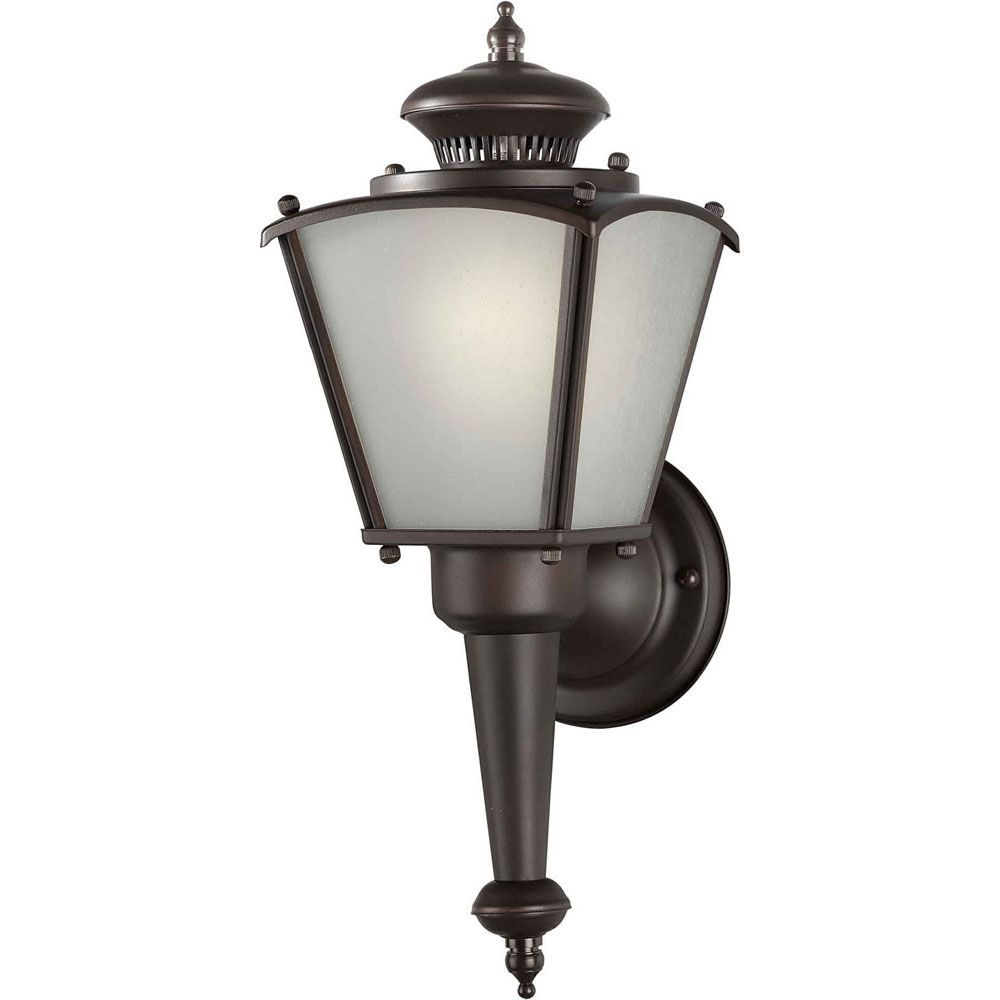 Burton 1 Light Antique Bronze Outdoor Compact Fluorescent Lighting Wall Light CLI-FRT100090132 Canada Discount