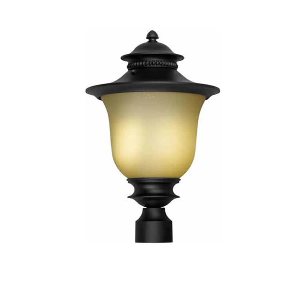 Burton 1 Light Black  Outdoor Compact Fluorescent Lighting Post Light