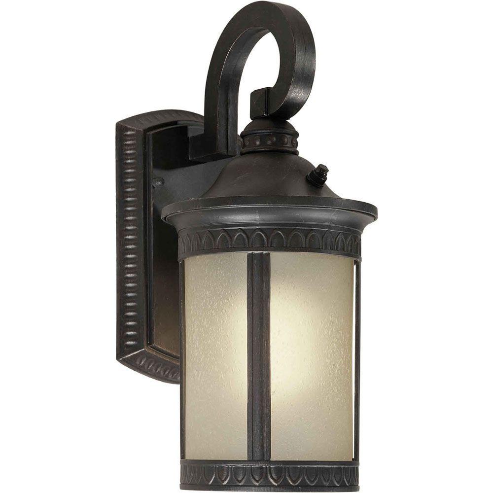 Burton 1 Light Bordeaux Outdoor Compact Fluorescent Lighting Wall Light CLI-FRT170210164 Canada Discount