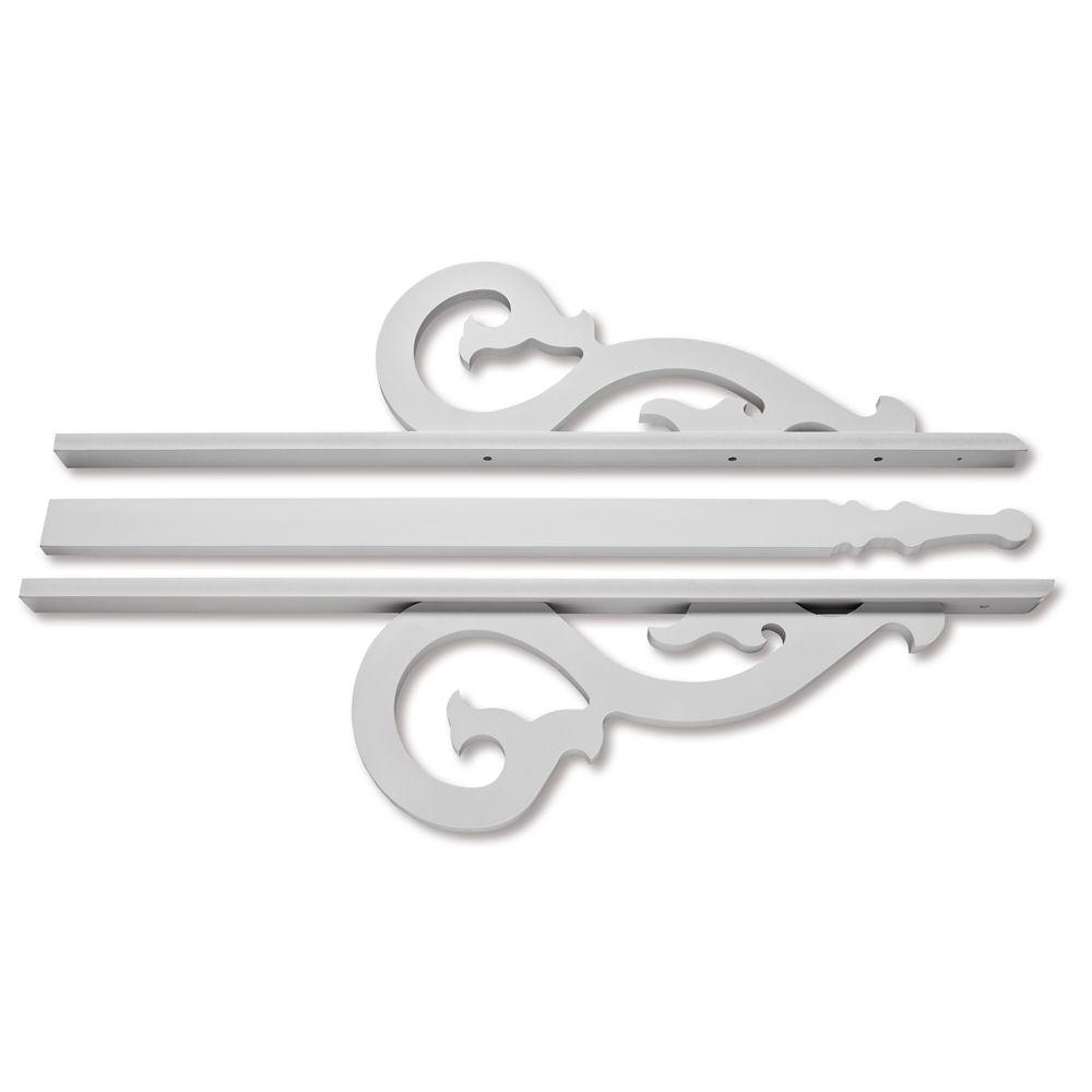 PVC Gable 8-9/16 Inch X 36 Inch X 3/4 Inch GB009-ZWC Canada Discount