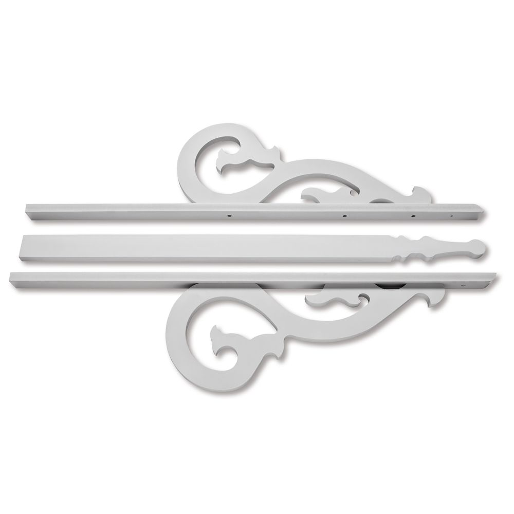 PVC Gable 8-9/16 Inch X 36 Inch X 3/4 Inch
