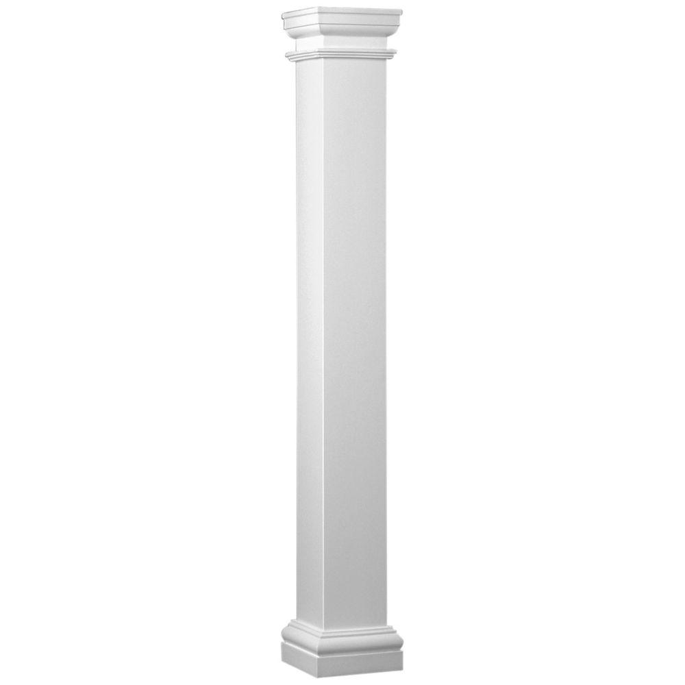 Fiberglass Square Column 8 Inch x 8 Inch x 8 Feet