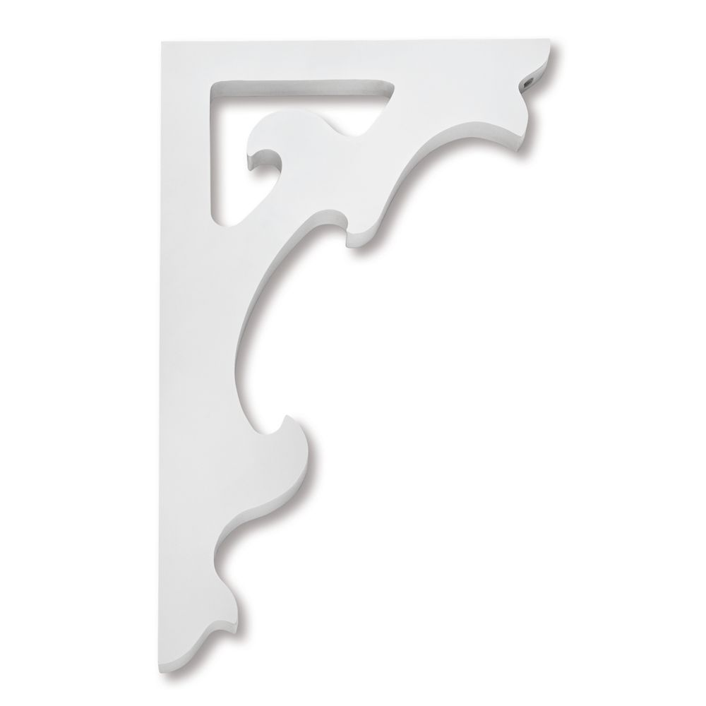 PVC Porch Bracket 9-7/8 Inch X 16 Inch X 3/4 Inch
