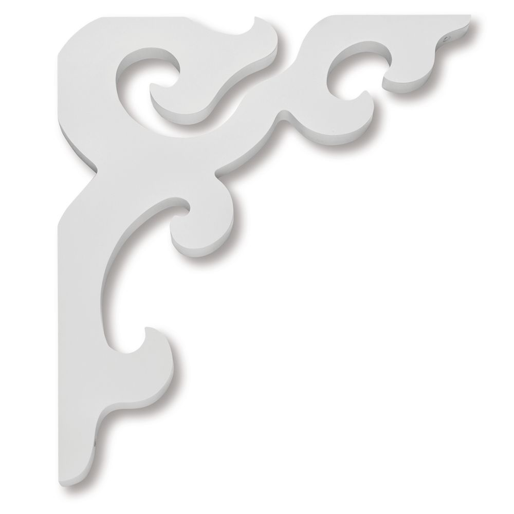PVC Porch Bracket 14-3/4 Inch X 16-9/16 Inch X 3/4 Inch GB001-ZWC in Canada