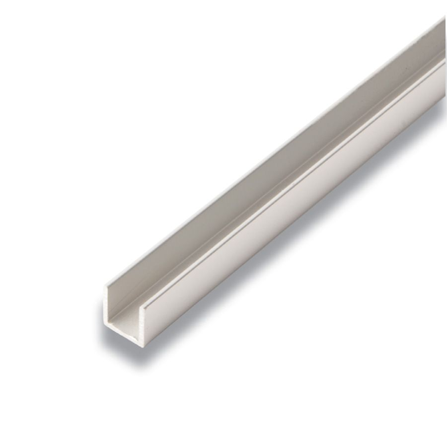Alexandria Moulding Metal U-Channel Satin Clear 1/2-inch x 1/2-inch x 8 Ft.