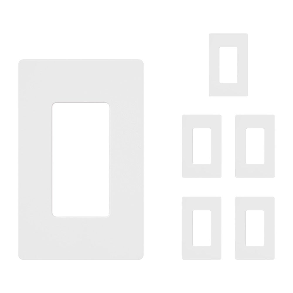 Lutron Claro 1-Gang Wall Plate - White (6pack)