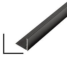 Metal Angle Black 1-inch x 1-inch x 8 Ft.