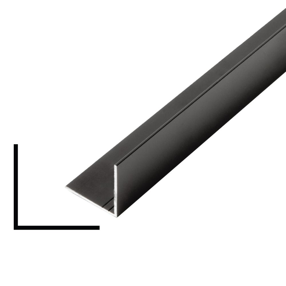 Metal Angle Black 1 In. x 1 In. x 8 Ft.
