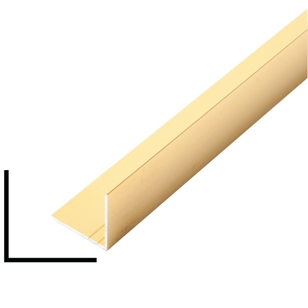 Metal Angle Mira Gold 1 In. x 1 In. x 8 Ft.