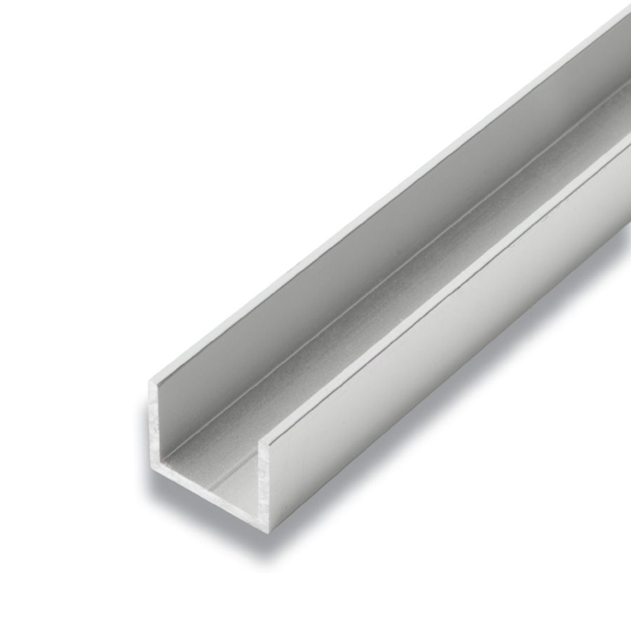 Metal U-Channel Satin Clear 3/4 In. x 1 In. x 8 Ft.