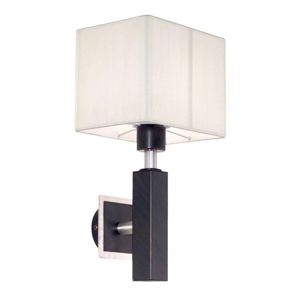 Tosca 1 Wall Light, Antique Brown with Cream String Shade