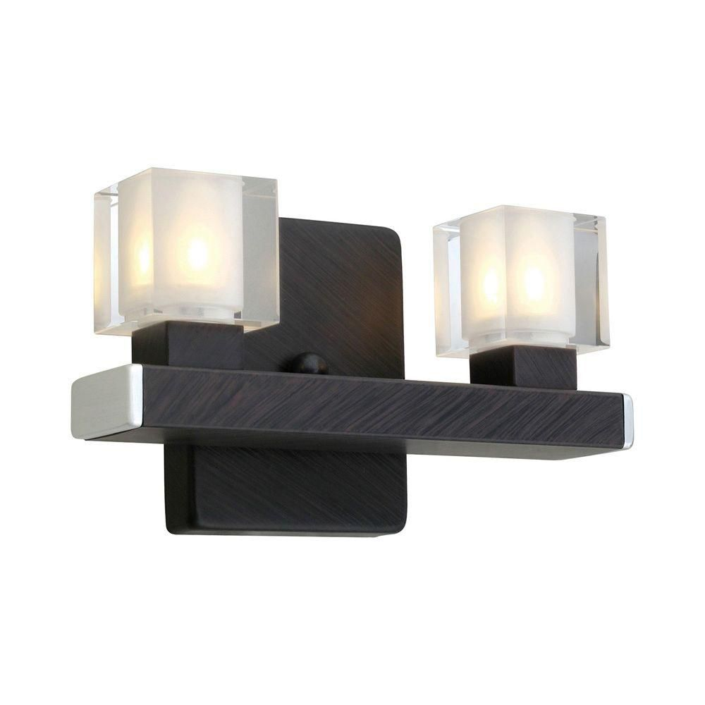 Tenno Wall Light-2L, Antique Brown with Genuine Lead Crystal