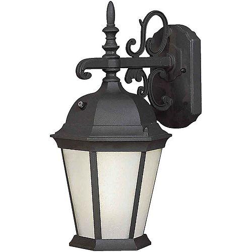 Filament Design Burton 1 Light Black  Outdoor Compact Fluorescent Lighting Wall Light