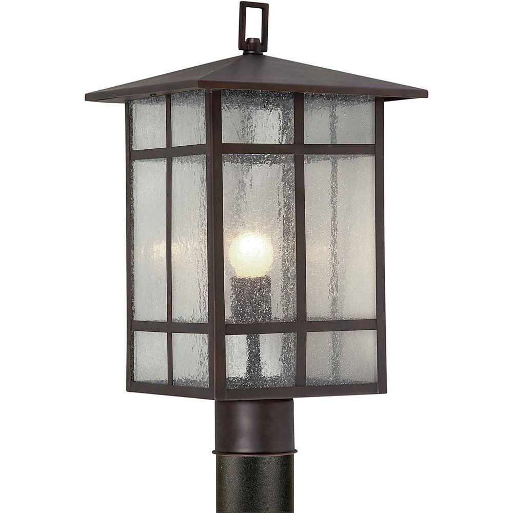 Filament Design Burton 1 Light Antique Bronze Outdoor Incandescent Post Light