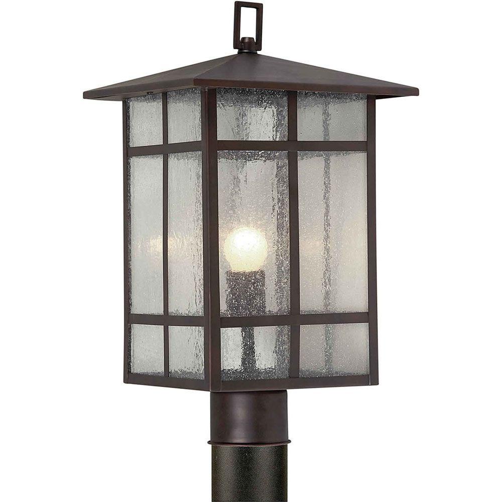 Filament Design Burton 1-Light Antique Bronze Outdoor Post Light