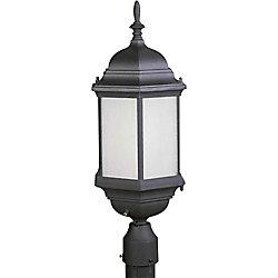 Filament Design pilier monture lumière avec abat-jour givré couleur en noir