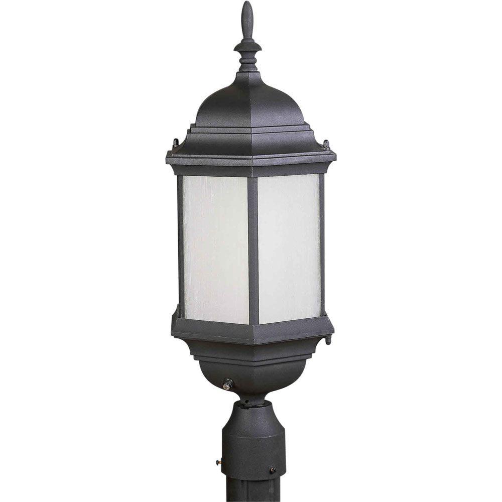 Burton 1 Light Black  Outdoor Compact Fluorescent Lighting Post Light