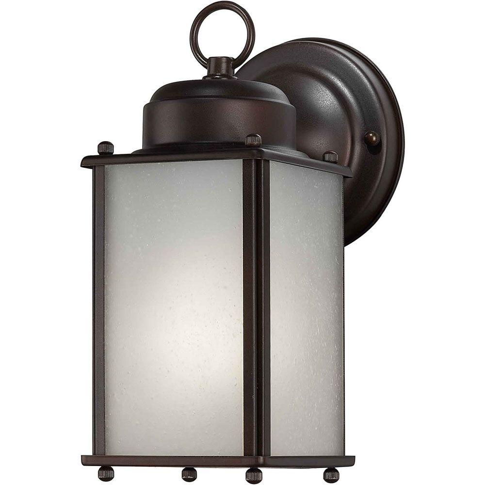 Burton 1 Light Antique Bronze  Outdoor Compact Fluorescent Lighting Wall Light