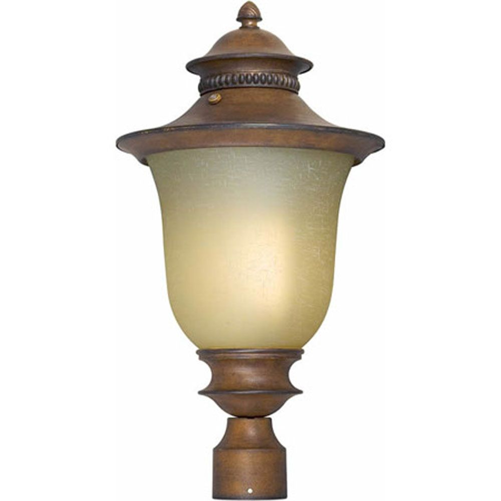 Burton 1 Light Rustic Sienna  Outdoor Compact Fluorescent Lighting Post Light