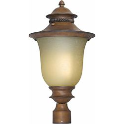 Filament Design Burton 1 Light Rustic Sienna  Outdoor Compact Fluorescent Lighting Post Light
