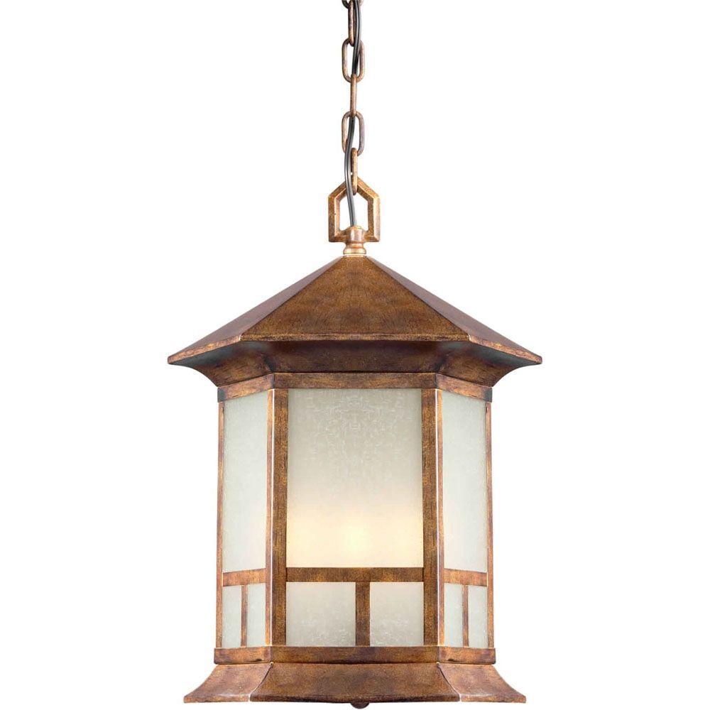 Burton 4-Light Rustic Sienna Outdoor Ceiling-Light