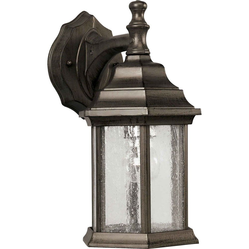Burton 1-Light Olde Bronze Outdoor Wall-Light