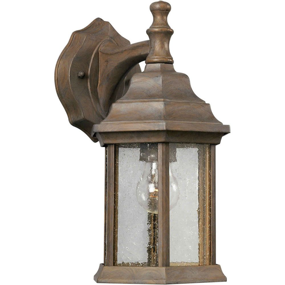 Burton 1-Light Desert Stone Outdoor Wall-Light
