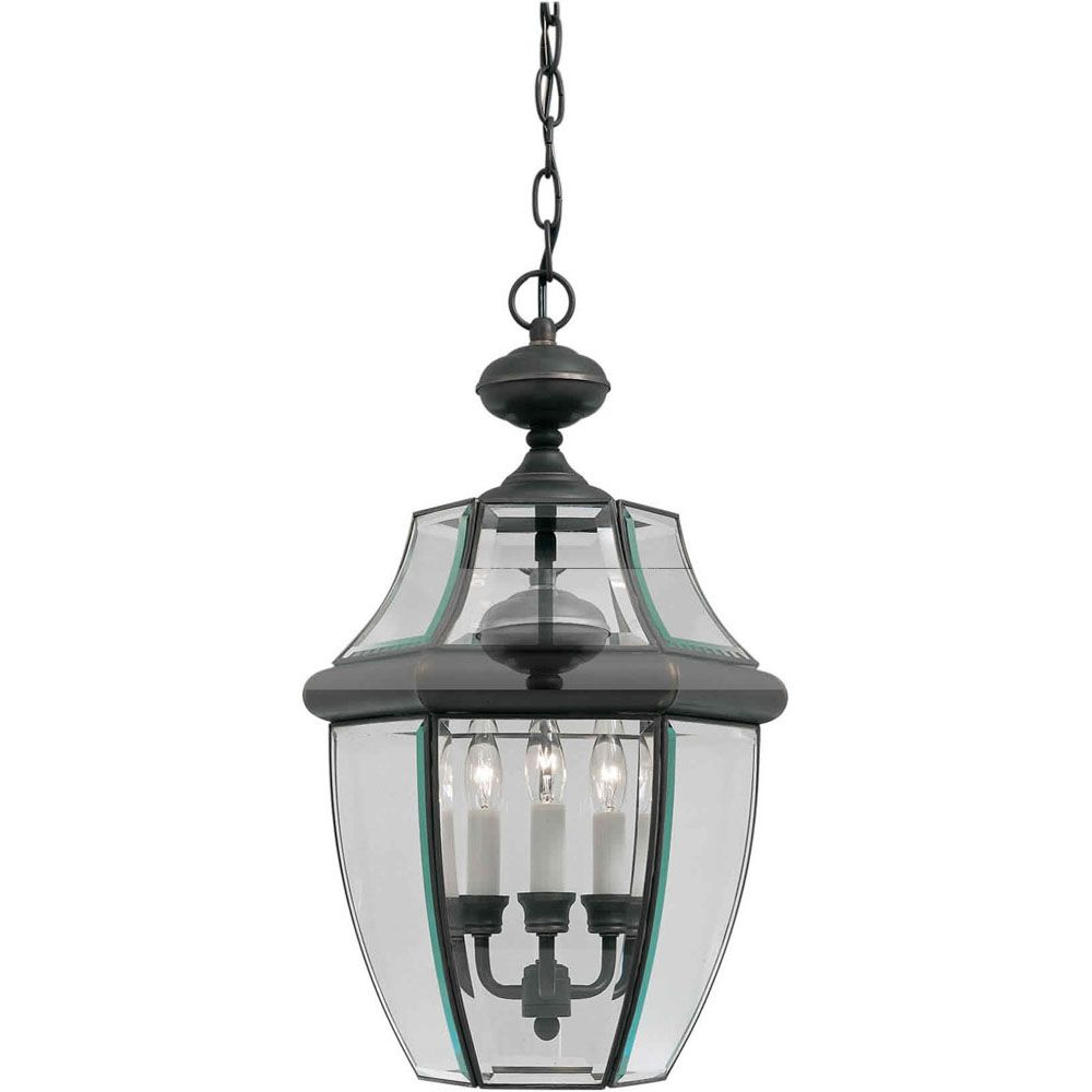 Burton 3-Light Royal Bronze Outdoor Ceiling-Light