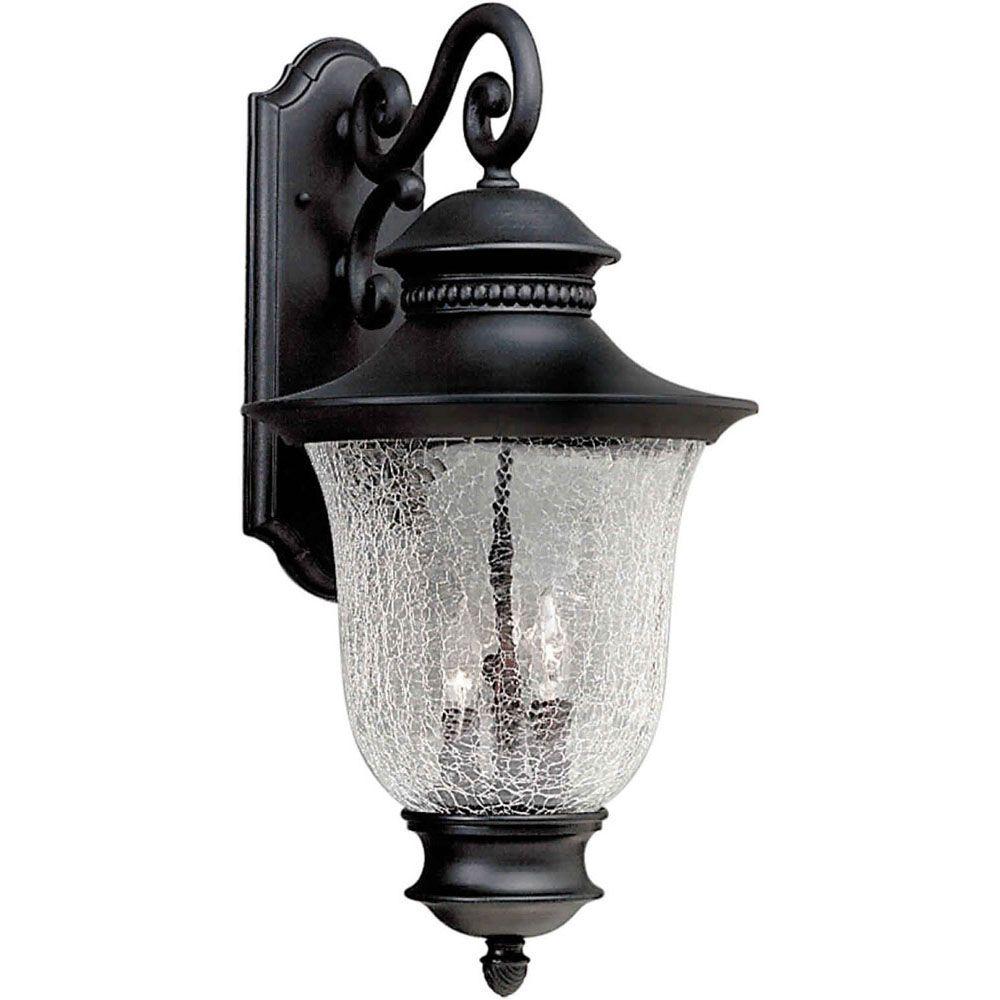 Burton 3-Light Black Outdoor Wall-Light