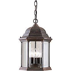 Filament Design Burton 3-Light Painted Rust Outdoor Ceiling-Light