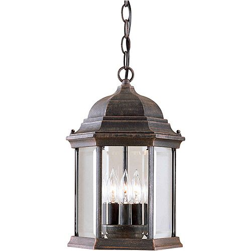 Filament Design Burton 3-Light Painted Rust Outdoor Ceiling-Light