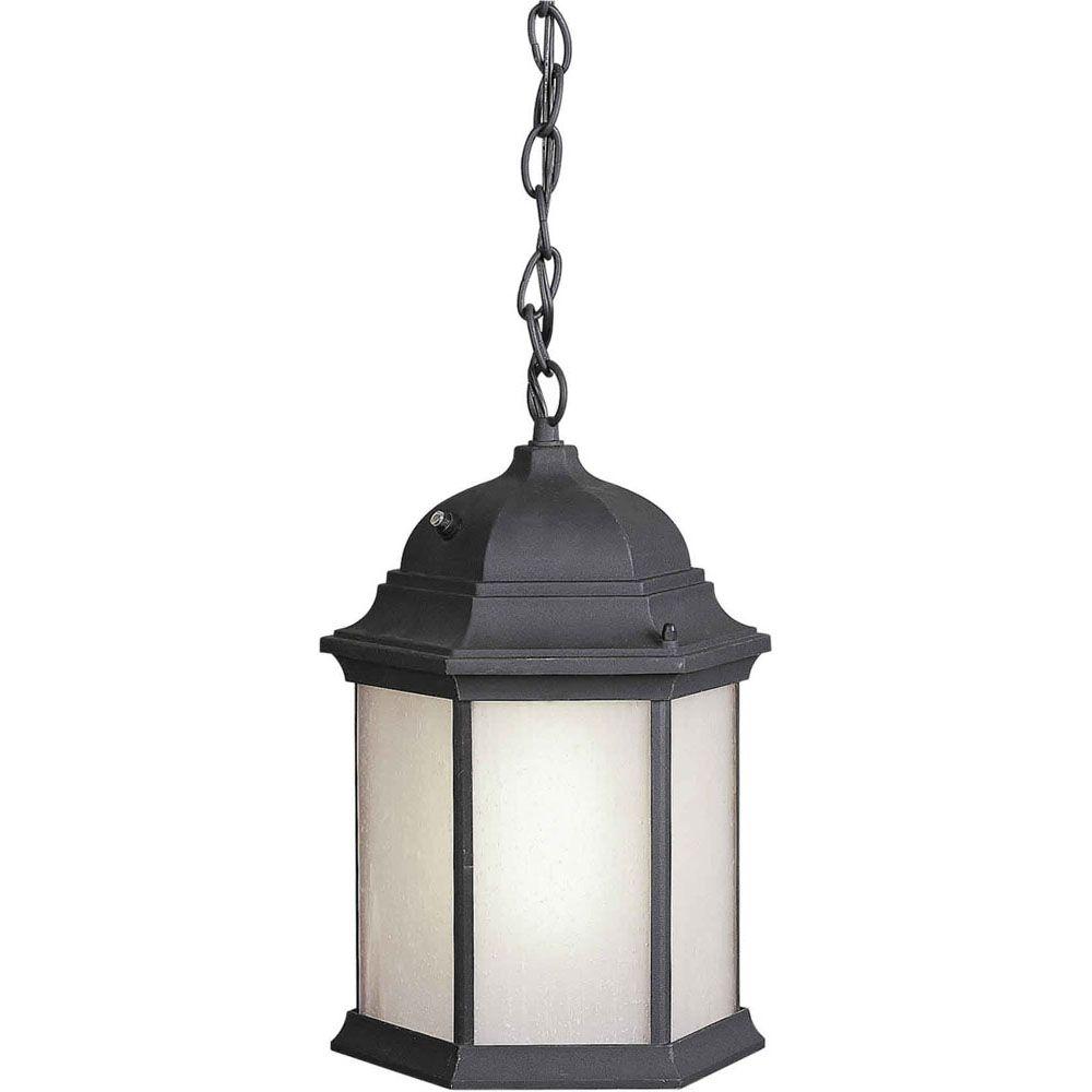 Burton 1 Light Black  Outdoor Compact Fluorescent Lighting Ceiling Light