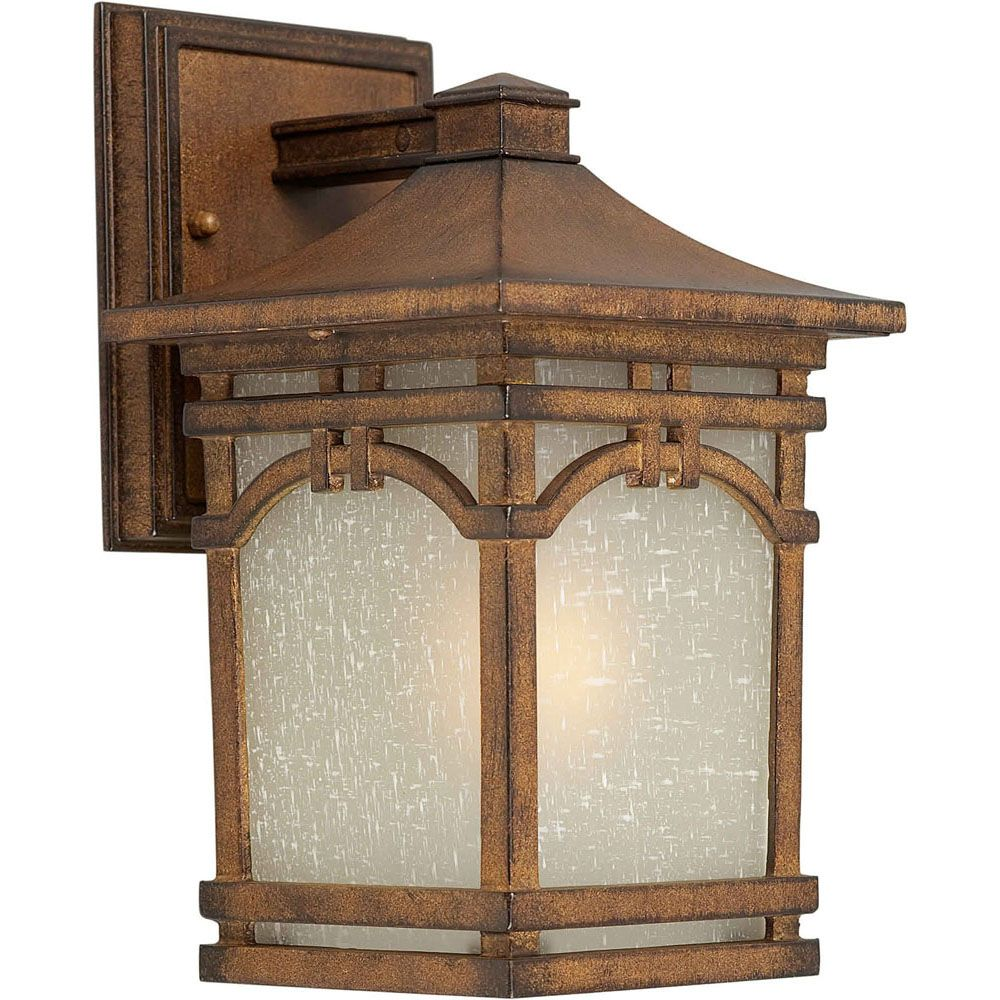 Burton 1-Light Rustic Sienna Outdoor Wall-Light