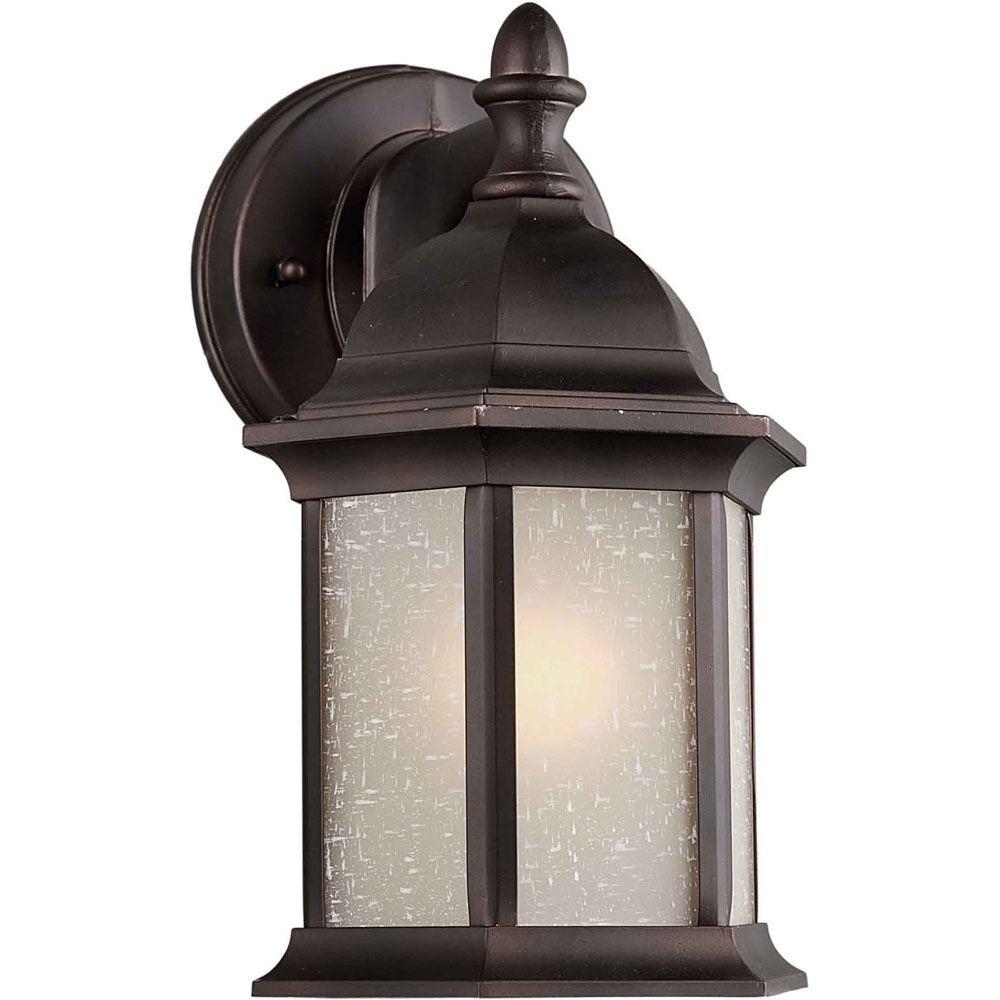 Burton 1-Light Antique Bronze Outdoor Wall-Light