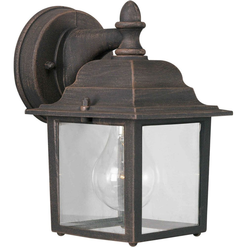 Burton 1 Light Painted Rust Outdoor Incandescent Wall Light CLI-FRT17450128 in Canada