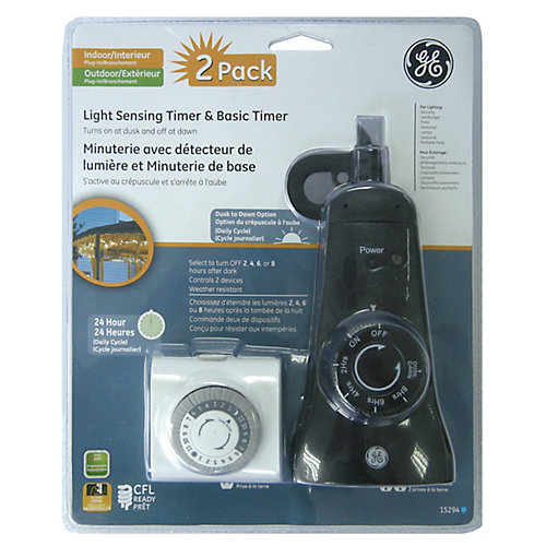 Indoor/Outdoor Timer - 2 Pack