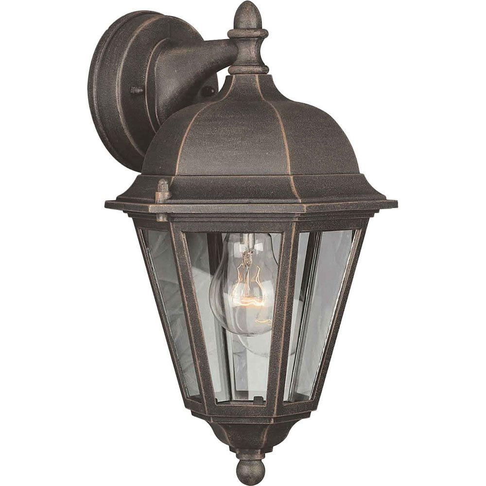 Burton 1 Light Painted Rust  Outdoor Incandescent Wall Light