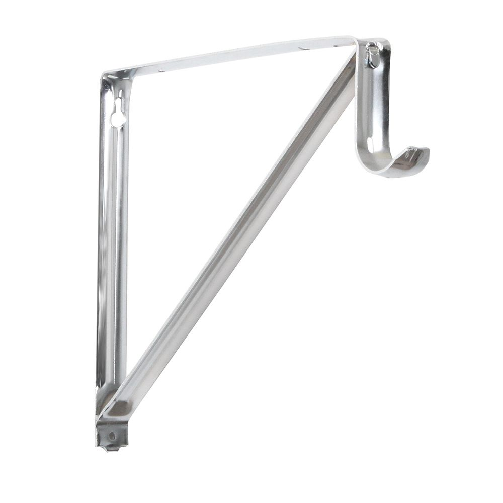 Everbilt 10 3 4 Inch Shelf And Rod Bracket In Chrome The