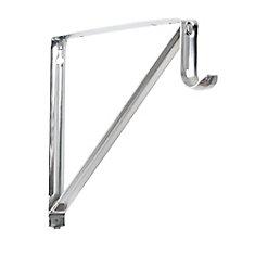 10 3/4-inch Shelf and Rod Bracket in Chrome