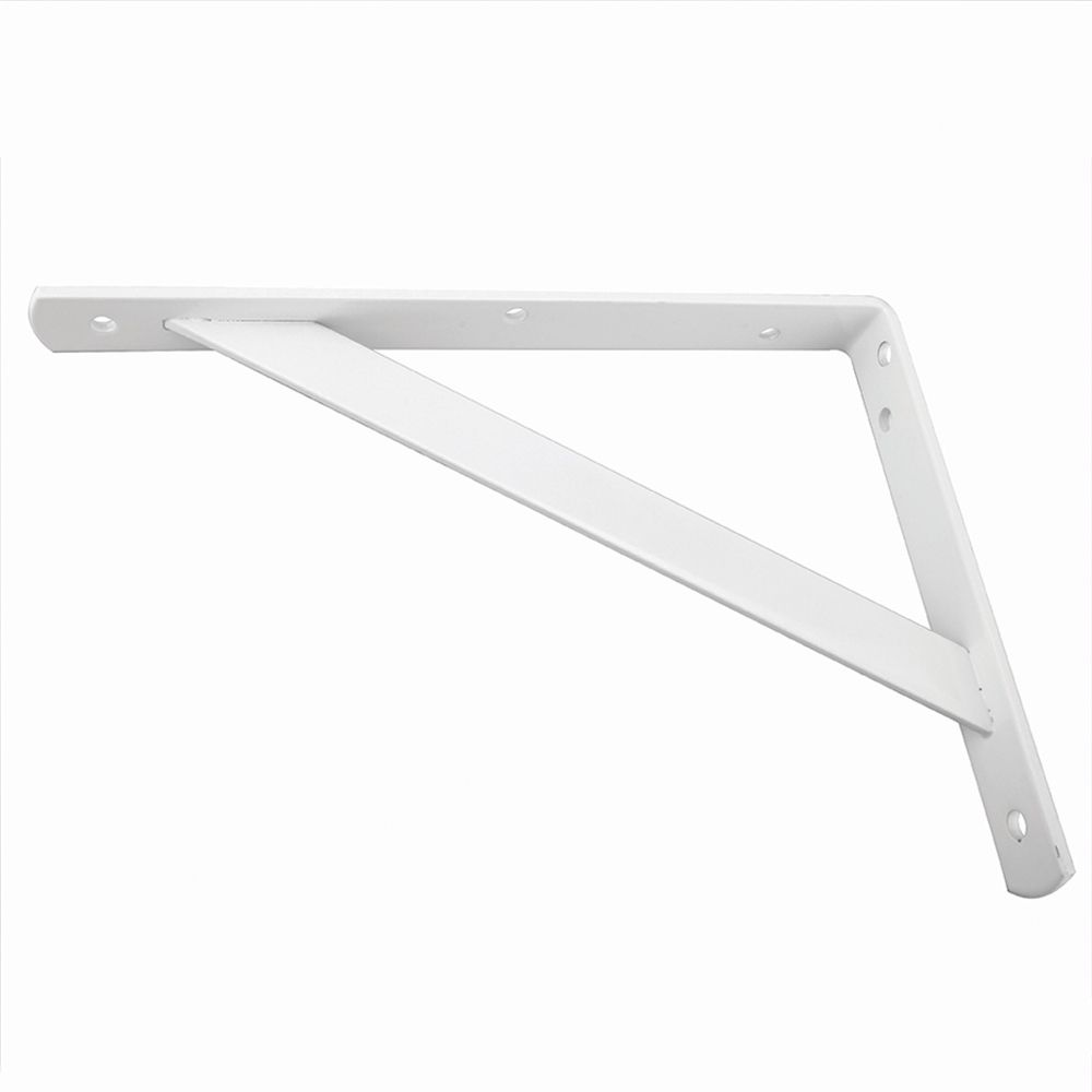 Everbilt 12 Inch White Heavy Duty Bracket