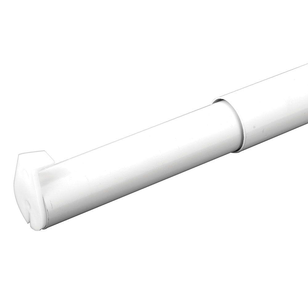 Everbilt 48 Inch - 72 Inch White Adjustable Closet Rod
