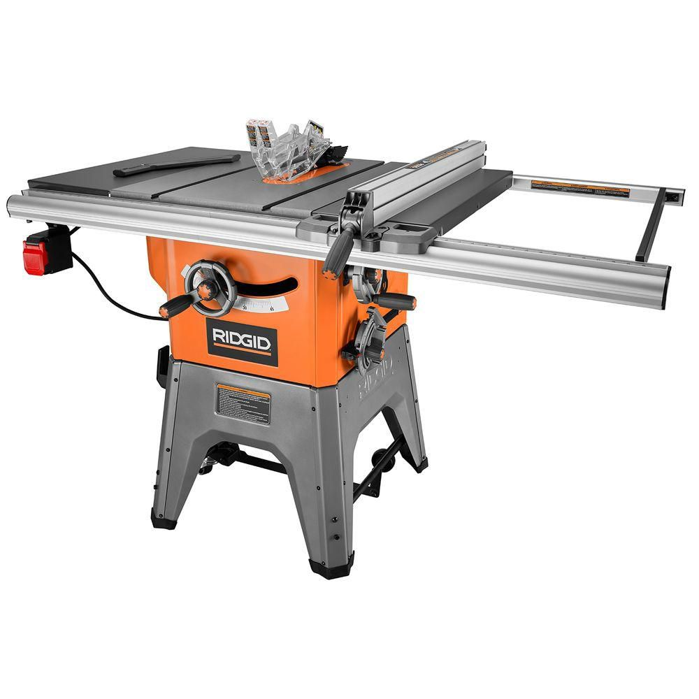 Ridgid 10 Inch 13 Amp Cast Iron Table Saw The Home Depot Canada