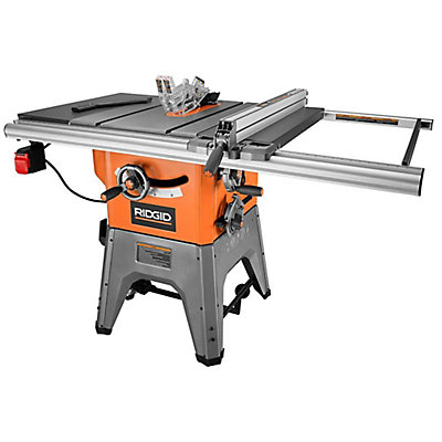 Ridgid 13 amp 10 in professional cast iron table saw the home professional cast iron table saw the home depot canada greentooth Images