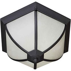 Filament Design Burton 2 Light Black Outdoor Compact Fluorescent Lighting Ceiling Light