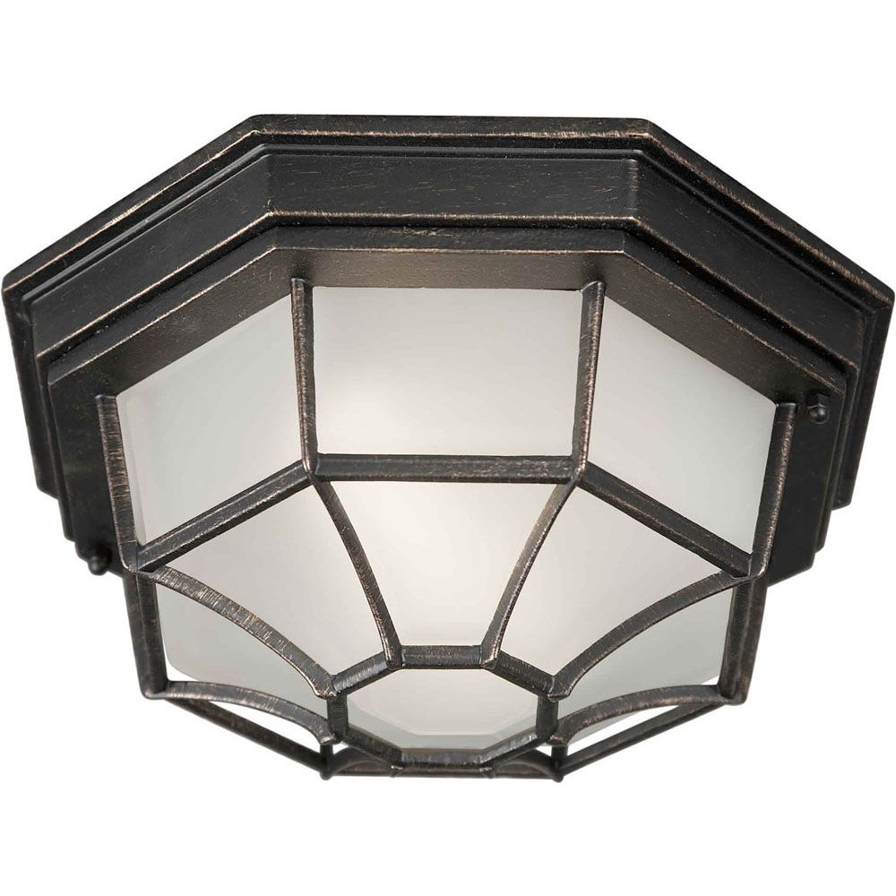 Burton 1 Light Bordeaux  Outdoor Compact Fluorescent Lighting Ceiling Light