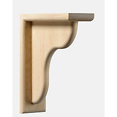 Maple Counter Support Bracket 2-1/2 x 9-1/4 x 9-1/4