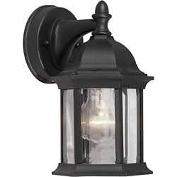 Filament Design Burton 1-Light Black Outdoor Wall-Light