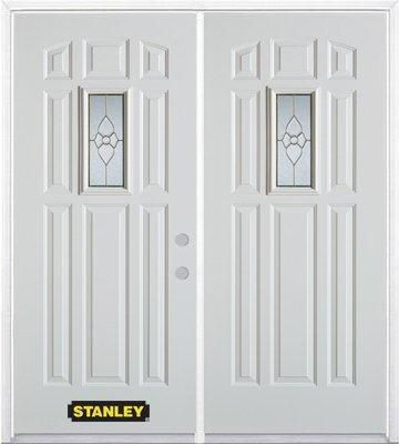 stanley doors porte dentr e double en acier pr fini blanc. Black Bedroom Furniture Sets. Home Design Ideas