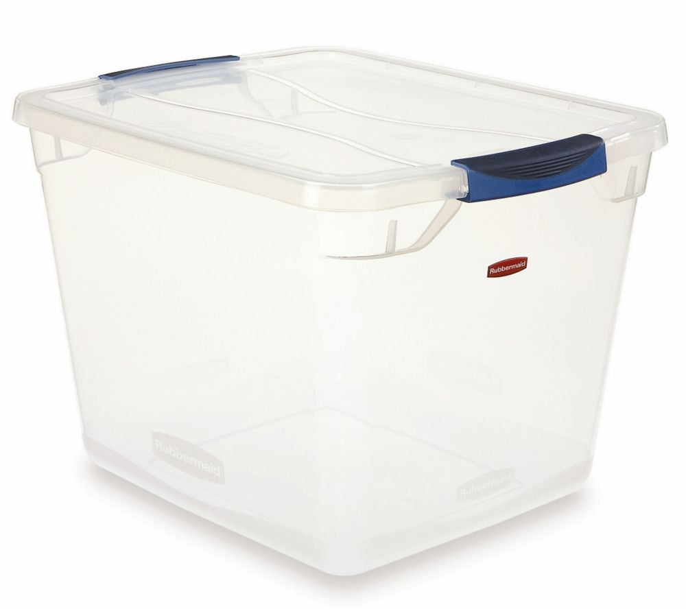 Rubbermaid 28.3L Clear Clever Store Tote